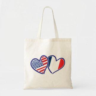 LES Etats-Unis---France-Amour Tote Bag