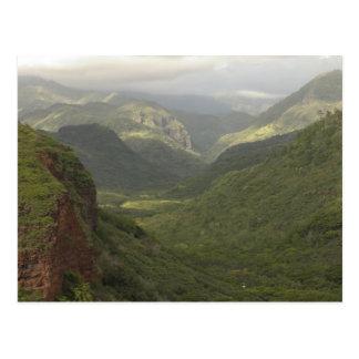 Les Etats-Unis, Hawaï, Kauai, canyon donnent sur. Carte Postale