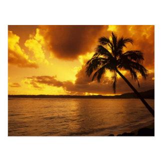 Les Etats-Unis, Hawaï, Kauai, lever de soleil Carte Postale