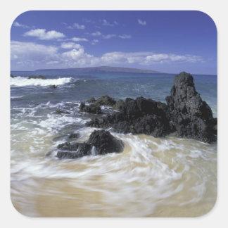 Les Etats-Unis, Hawaï, Maui, Maui, plage de Autocollant Carré