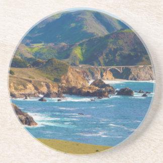 Les Etats-Unis, la Californie. Panorama de grand Dessous De Verre