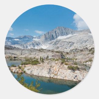 Les Etats-Unis, la Californie, réserve forestière Sticker Rond