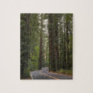 Les Etats-Unis, la Californie, route par la forêt Puzzle