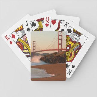 Les Etats-Unis, la Californie. Vue de golden gate Jeu De Cartes