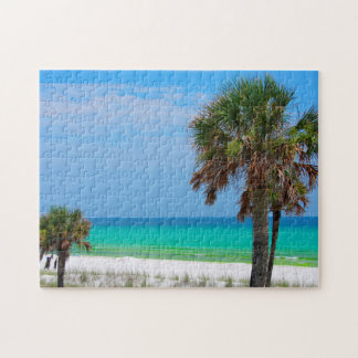 Les Etats-Unis, la Floride. Palmiers sur la côte Puzzle