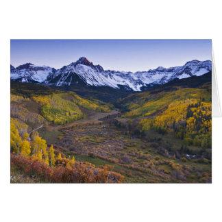 Les Etats-Unis, le Colorado, montagnes rocheuses, Carte De Vœux