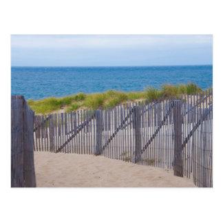 Les Etats-Unis, le Massachusetts. Dunes et chemin Carte Postale