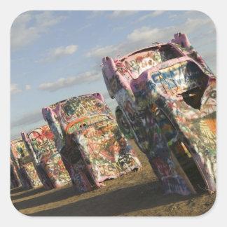 Les Etats-Unis, le TEXAS, région de Panhandle, Sticker Carré