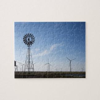 Les Etats-Unis, le Texas, Vega, vieux moulin à ven Puzzle