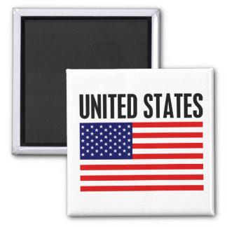 Les Etats-Unis Magnet Carré