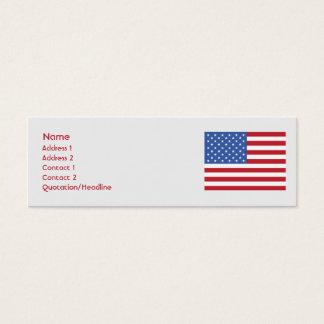 Les Etats-Unis - maigres Mini Carte De Visite