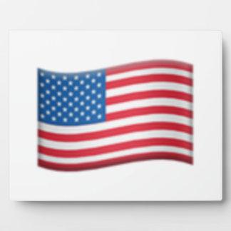 Les Etats-Unis marquent - Emoji Plaque Photo