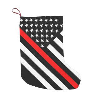 Les Etats-Unis marquent la ligne rouge mince noire Petite Chaussette De Noël