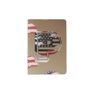 Les Etats-Unis marquent le monogramme initial Protège-passeport