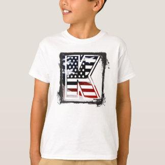 Les Etats-Unis marquent le monogramme initial T-shirt