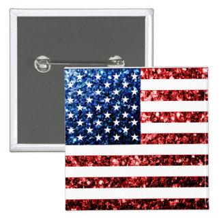 Les Etats-Unis marquent le rouge et le bleu Badges