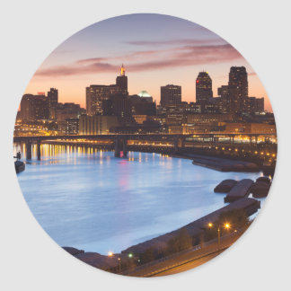 Les Etats-Unis, Minnesota, Minneapolis, St Paul 2 Sticker Rond