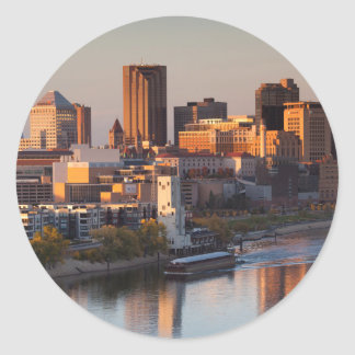 Les Etats-Unis, Minnesota, Minneapolis, St Paul 3 Sticker Rond