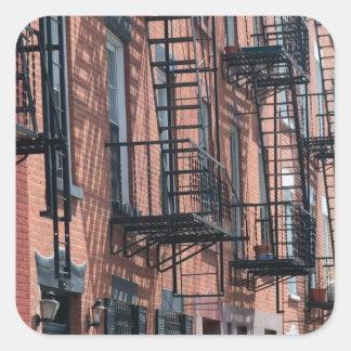 Les Etats-Unis, New York, New York City, Brooklyn Sticker Carré