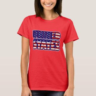 Les Etats-Unis ont exprimé le T-shirt des femmes