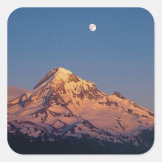 Les Etats-Unis, Orégon, capot de Mt. Le coucher du Sticker Carré