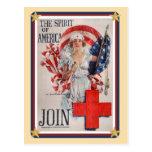Les Etats-Unis patriotiques - La Croix-Rouge se Cartes Postales
