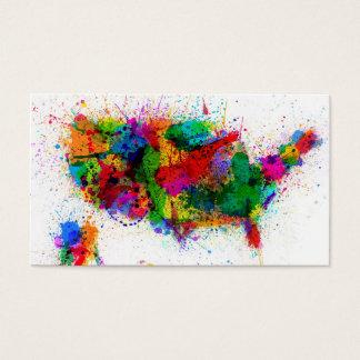 Les Etats-Unis peignent éclaboussent la carte