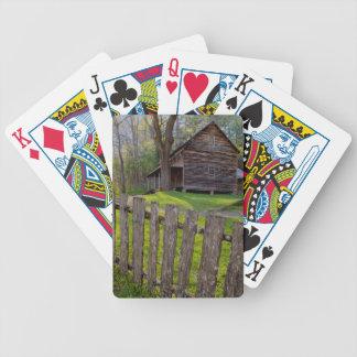 Les Etats-Unis, Tennessee, cabine dans la crique Jeux De Cartes