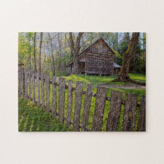 Les Etats-Unis, Tennessee, cabine dans la crique Puzzle