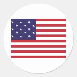 Les Etats-Unis tiennent le premier rôle le drapeau Autocollants Ronds