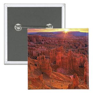 Les Etats-Unis, Utah, parc national de canyon de B Badge Carré 5 Cm