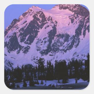 Les Etats-Unis, Washington, Mt. Shuskan en Sticker Carré