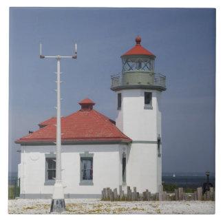 Les Etats-Unis, Washington, Seattle, phare de poin Carreaux
