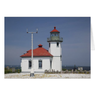 Les Etats-Unis, Washington, Seattle, phare de poin Carte