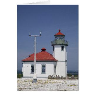Les Etats-Unis, Washington, Seattle, phare de poin Carte De Vœux