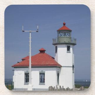 Les Etats-Unis, Washington, Seattle, phare de poin Dessous-de-verre