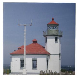 Les Etats-Unis, Washington, Seattle, phare de poin Grand Carreau Carré