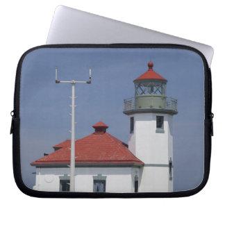 Les Etats-Unis, Washington, Seattle, phare de poin Housses Ordinateur Portable