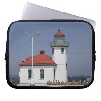 Les Etats-Unis, Washington, Seattle, phare de poin Housses Ordinateur