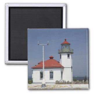 Les Etats-Unis, Washington, Seattle, phare de poin Magnet Carré