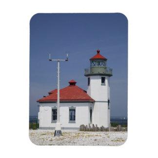 Les Etats-Unis, Washington, Seattle, phare de poin Magnets Souples