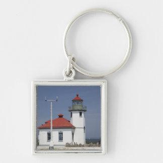 Les Etats-Unis, Washington, Seattle, phare de poin Porte-clé Carré Argenté