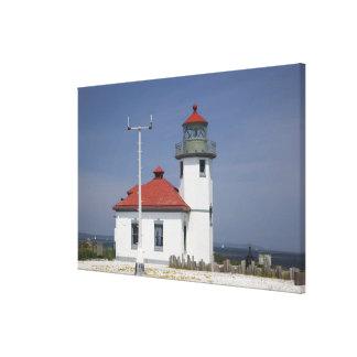 Les Etats-Unis, Washington, Seattle, phare de poin Impressions Sur Toile