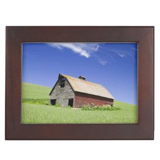 Les Etats-Unis, Washington, vieille grange rouge Boîtes À Souvenirs