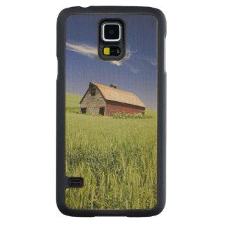 Les Etats-Unis, Washington, vieille grange rouge Coque Slim Galaxy S5 En Érable