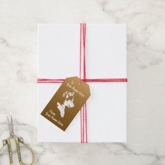Les étiquettes enrouées de cadeau ont personnalisé