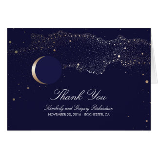 Les étoiles de lune ont enchanté le Merci de Cartes De Vœux
