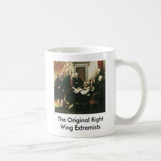 Les extrémistes originaux de droite mug blanc