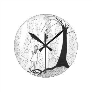 Les faims de forêt horloge ronde