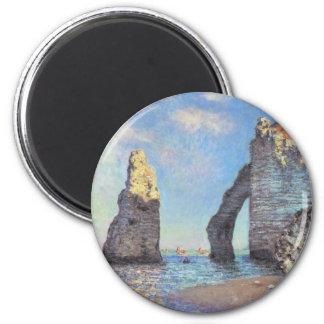Les falaises chez Etretat - Claude Monet Aimant